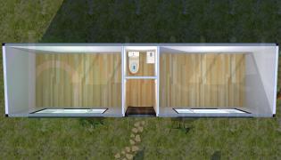 21 m² Prefabrik Konteyner Planı