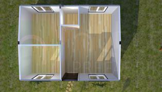 31 m² Modüler Prefabrik Ev Planı